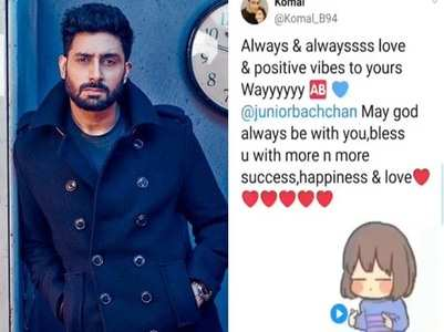 Abhishek shares a video to express gratitude