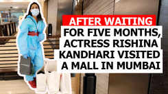 After waiting for five months, actress Rishina Kandhari visited a mall in Mumbai