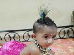 Parents use various ways to dress up their kids this Janmashtami