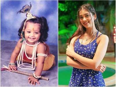 Digangana's cute pic dressed up as Krishna
