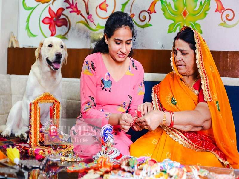 Anjali Joshi and her granddaughter prepare DIY costumes and decor for Janmashtami
