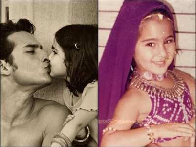Childhood pics of Sara Ali Khan