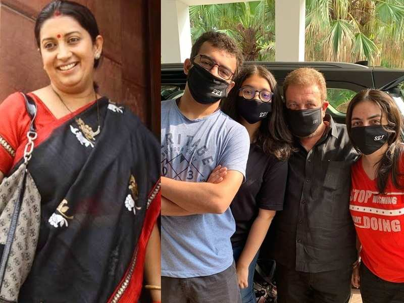 Smriti Irani shares a picture of her family wearing masks to keep them safe from Covid-19, urges others to do the same