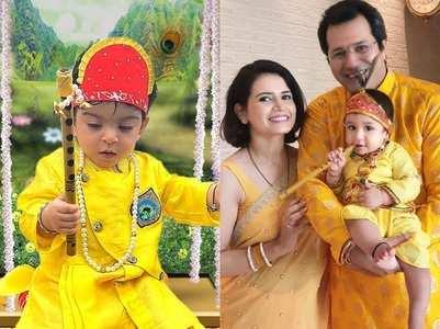 Celebs dress up their babies as Radha-Krishna