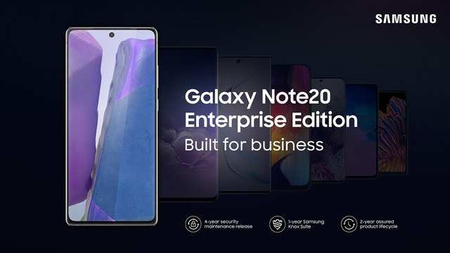 Samsung Galaxy Note20 and Galaxy Tab S7 Enterprise Editions announced