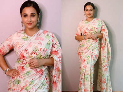 Vidya Balan's gorgeous water-coloured sari is too good to miss!