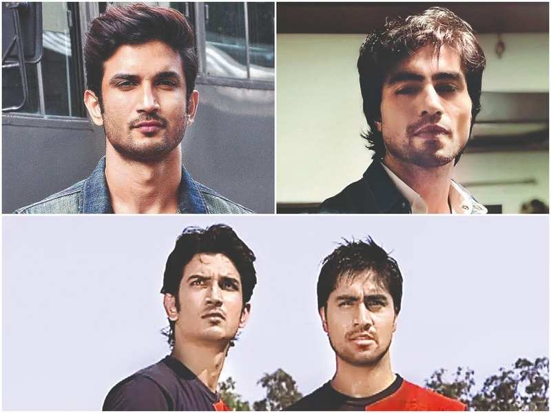 Sushant Singh Rajput, Harshad Chopda and (below) the two actors in a still from Kis Desh Mein Hai Meraa Dil