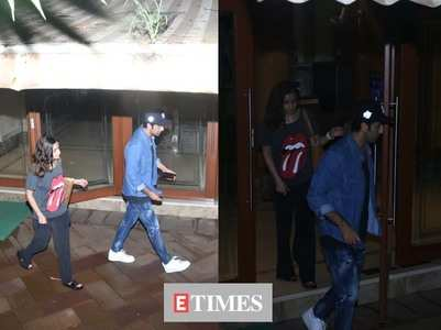 Ranbir & Alia meet Sanjay Dutt at his house