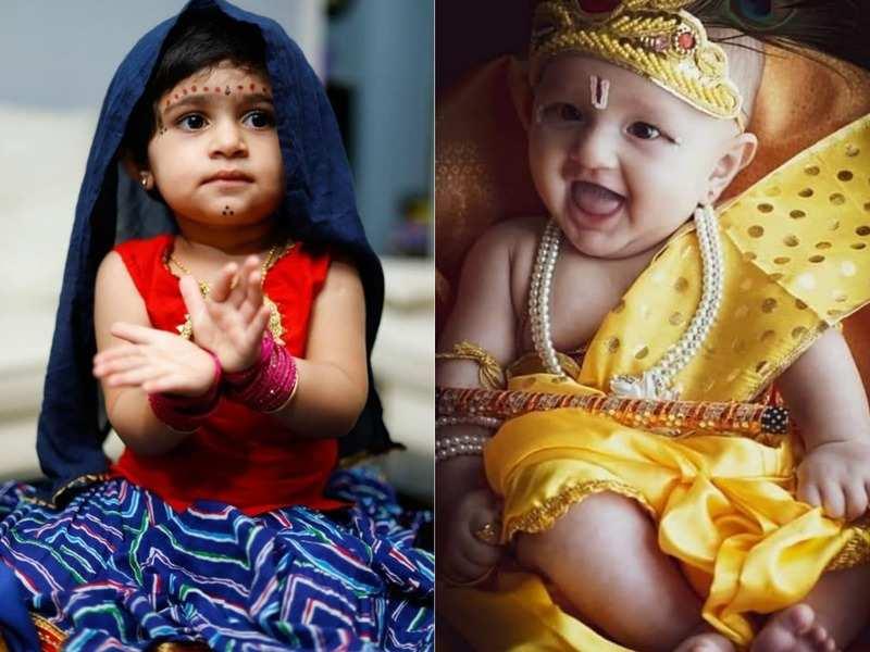 Photos: Kannada star kids shine as Krishna and Radha