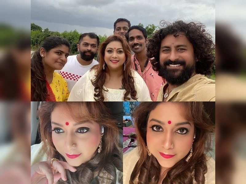 Rakshitha shares pictures from an Independence Day song shoot
