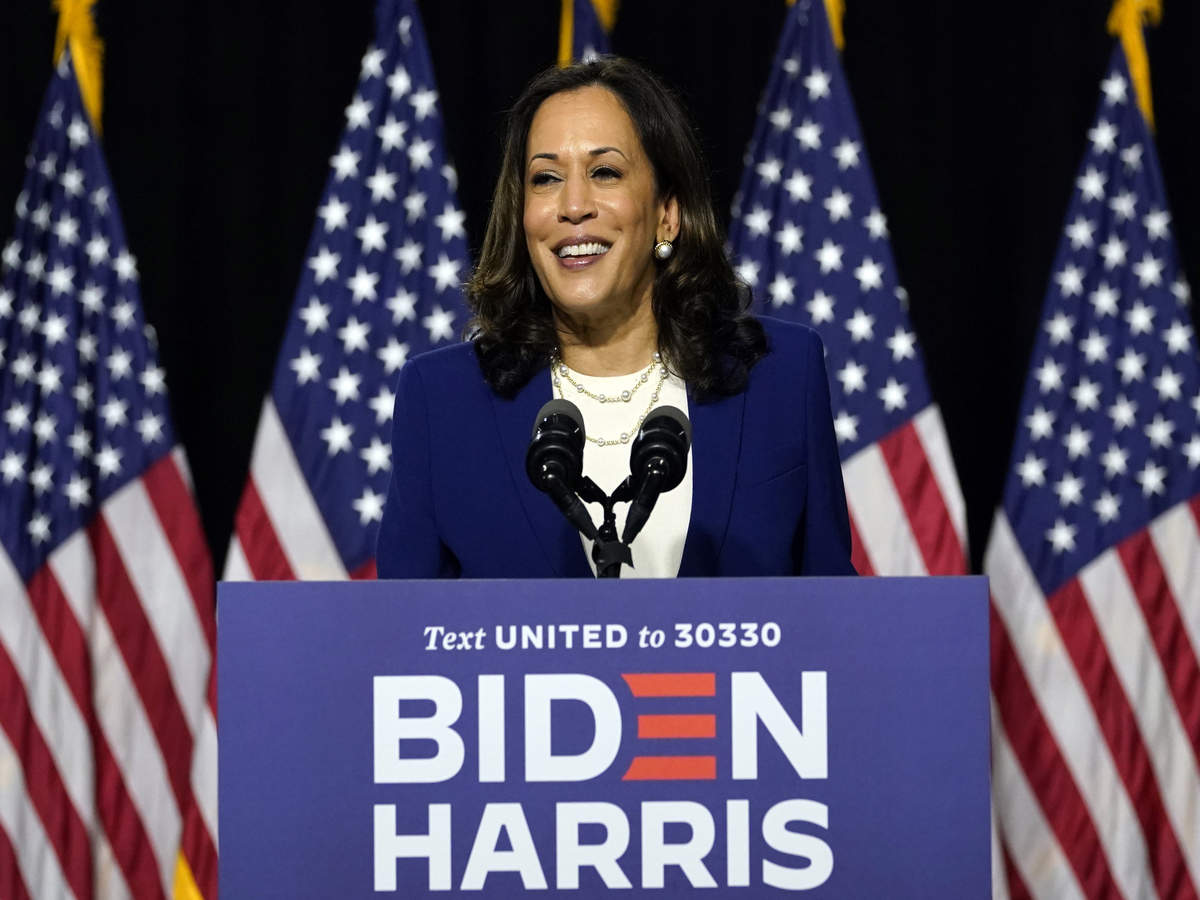 Kamala Harris Says It Would Be Great To Have Vice President Title But Momala Would Be Dearer To Her Times Of India