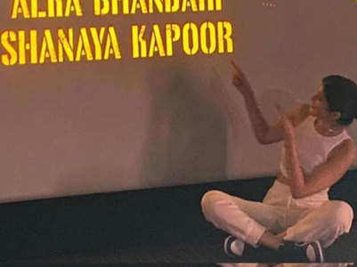 Shanaya Kapoor makes her debut as an AD
