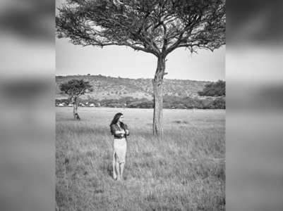 Sara posts a pic from her photoshoot in Africa