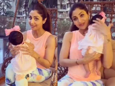 Shilpa's daughter turns six months old