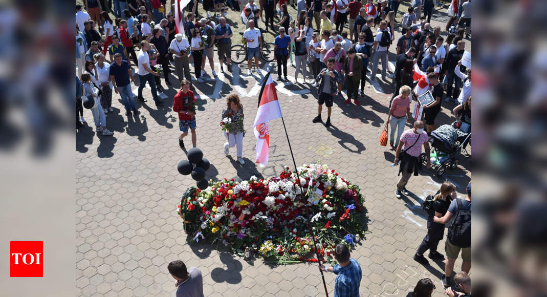 Several thousand gather in Belarus capital for new protest - Times ...