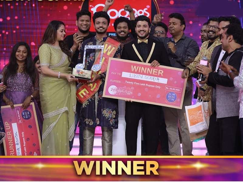 libin scaria: Sa Re Ga Ma Pa Keralam winner: Libin Scaria wins the trophy and cash prize of 25 lac rupees - Times of India