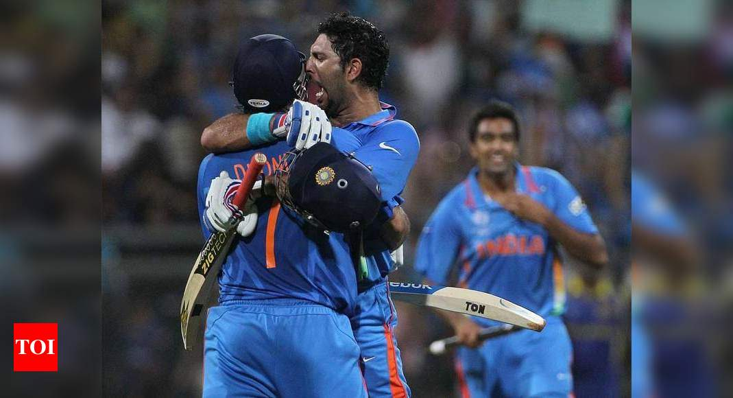Enjoyed lifting 2007, 2011 WC trophies together and many on-field partnerships: Yuvraj to Dhoni - Times of India