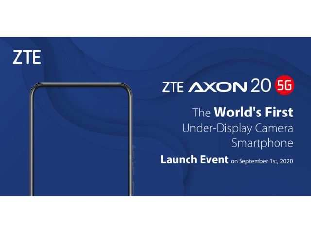 ZTE claims to launch the world's first 5G smartphone with under-display camera on September 1