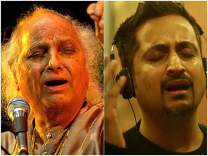 Indian classical vocalist Pandit Jasraj and singer Baiju Mangeshkar