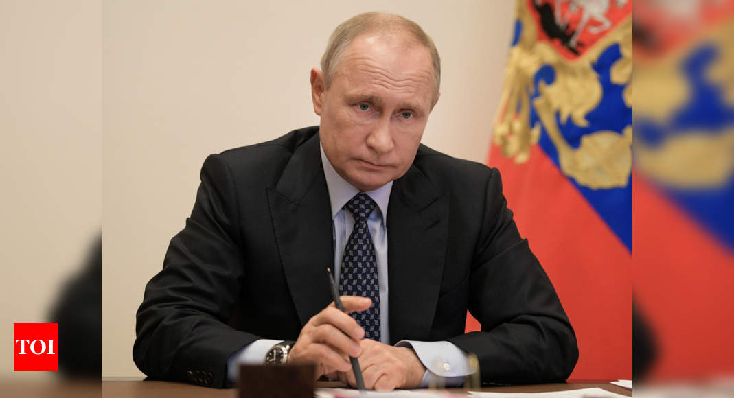 Vladimir Putin Tells Angela Merkel External Intervention In Belarus Would Be Unacceptable Times Of India