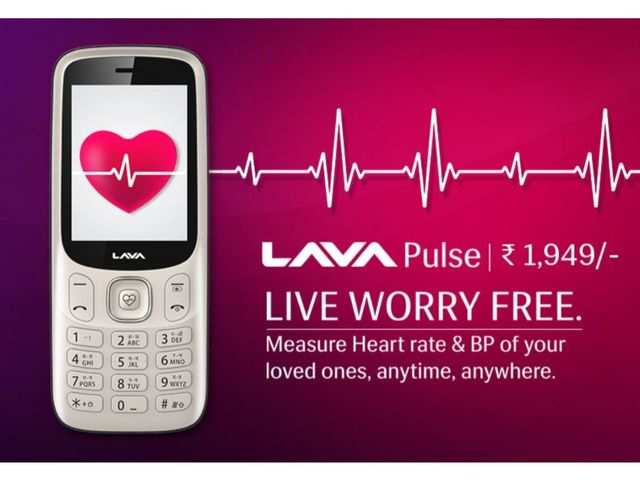 Lava Pulse feature phone with heart rate and BP sensor launched at Rs 1,949