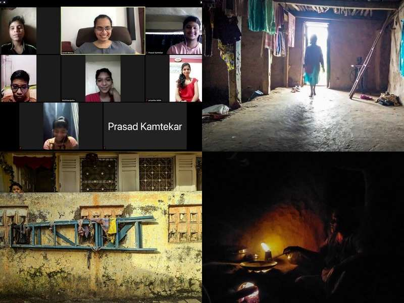 A screen grab of the class and some of the pictures the students have taken