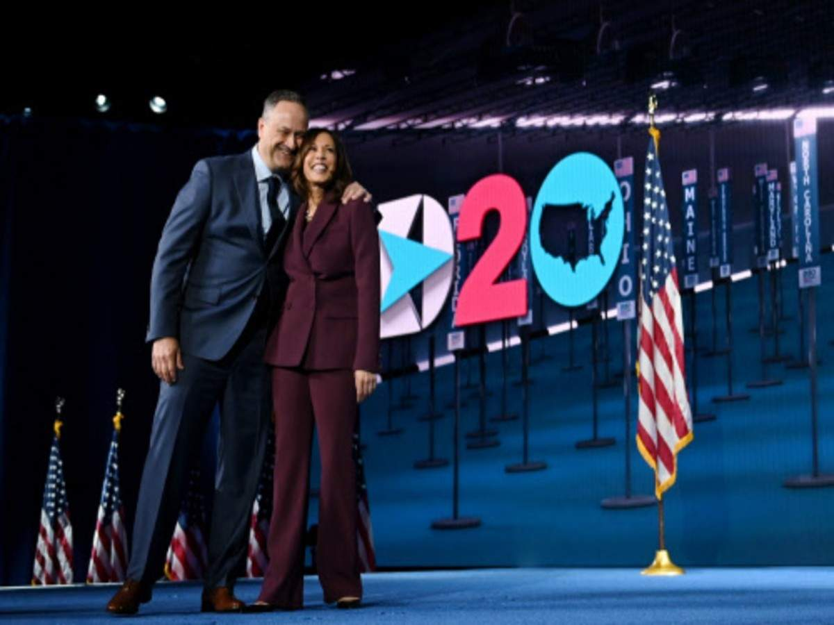 Kamala Harris News Kamala Harris Has Been Fighting For Justice Every Day Will Be Great Vp Says Her Husband World News Times Of India