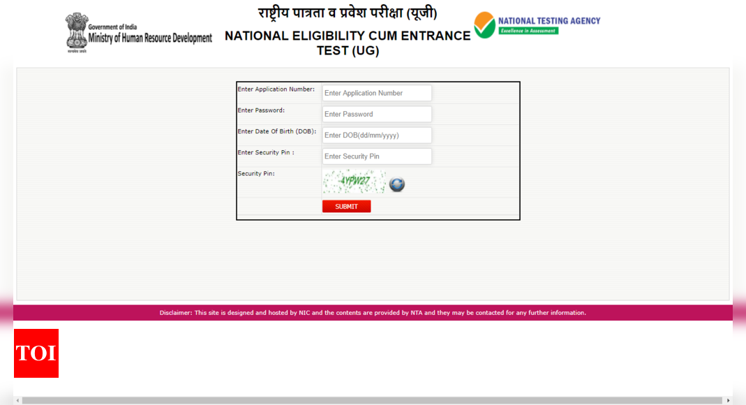Ntaneet Nic In Admit Card 2020 Neet Exam Hall Ticket 2020 Released How To Download At Ntaneet Nic In