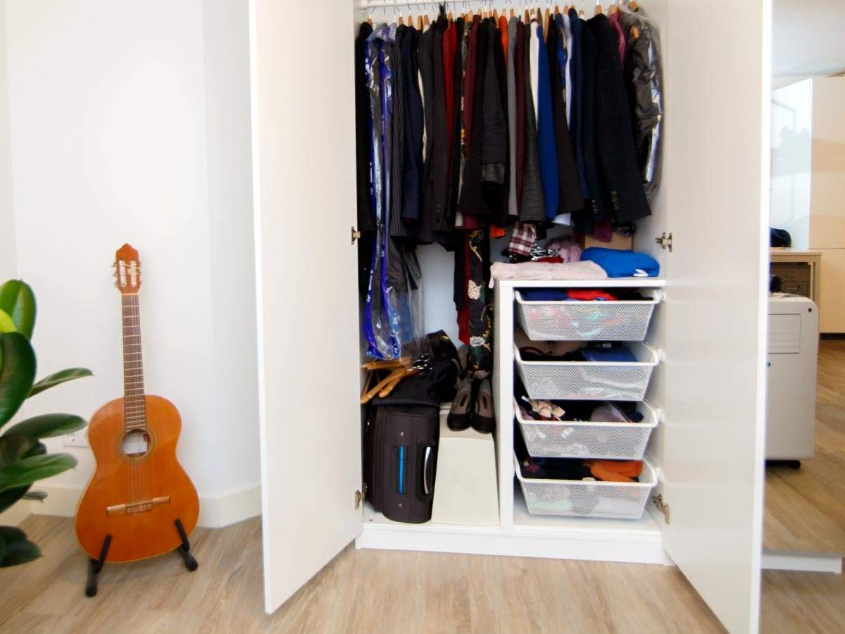 Sleek and smart wardrobe designs for small bedrooms  Most