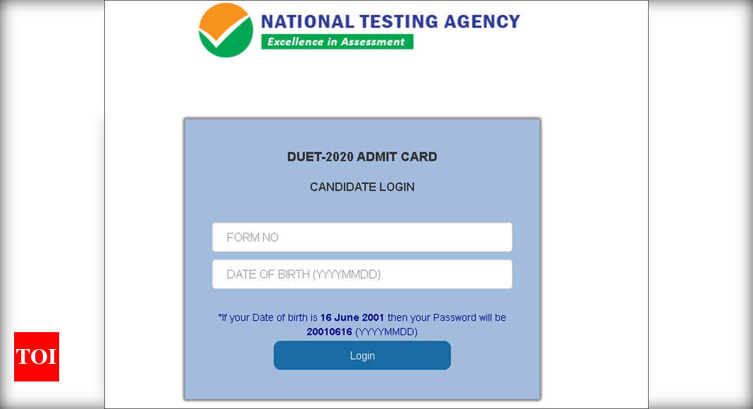 Nta Neet Ug 2020 Admit Card Released Ntaneet Nic In Direct Link Here Times Of India