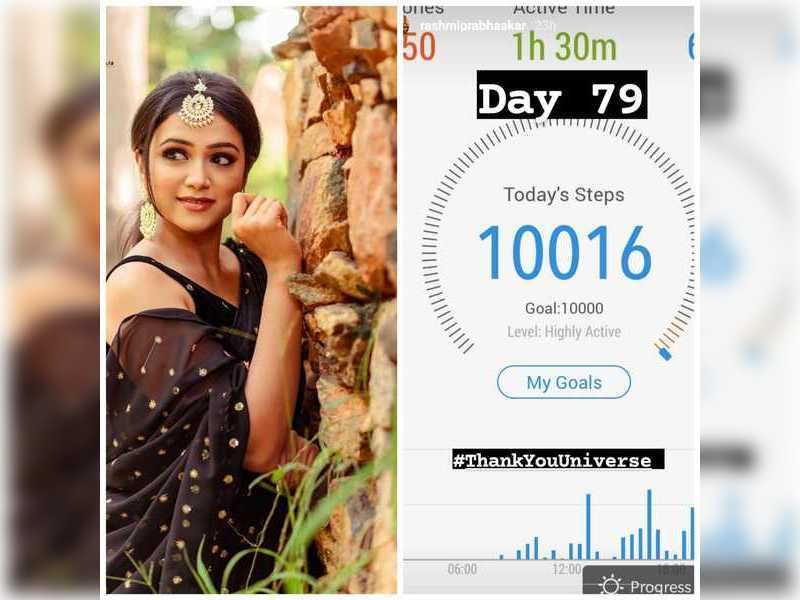 Rashmi Prabhakar continues to work hard towards her fitness goals