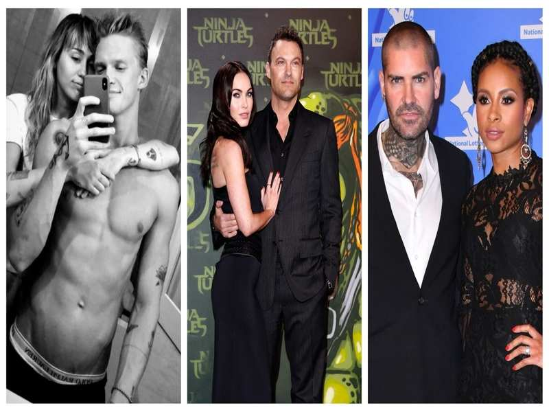 (From left to right) Hollywood couples Miley Cyrus and Cody Simpson, Brian Austin Green, and Shane and Sheena parted ways during the pandemic