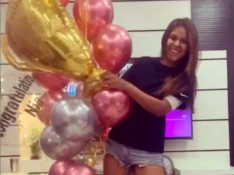 Khatron Ke Khiladi Made In India winner Nia Sharma celebrates her victory with cakes; congratulatory wishes pour in
