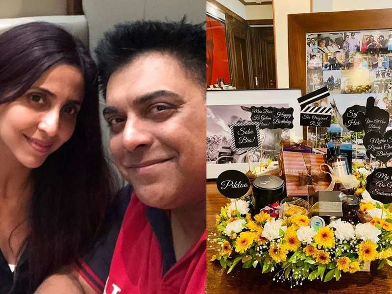 Bade Achhe Lagte Hain's Ram Kapoor gets a unique hamper and a sweet note from wife Gautami on his birthday; photos