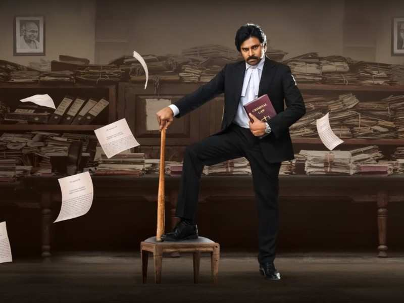 Vakeel Saab Motion Poster: Pawan Kalyan looks ready to bring on justice |  Telugu Movie News - Times of India