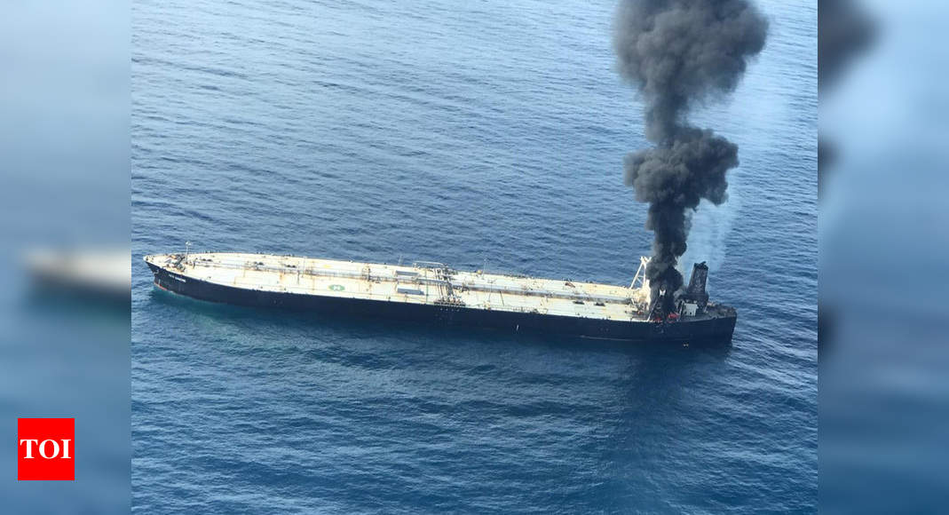Indian Oil Corp-chartered tanker with 2 million barrels of oil catches fire off Sri Lanka - Times of India
