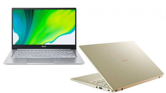 Acer Swift 5 and Swift 3 laptops with 11th Gen Intel Core processor launched