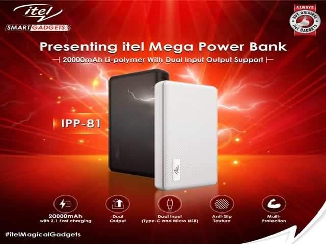 Itel launches 20,000mAh power bank IPP-81 at Rs 1,399