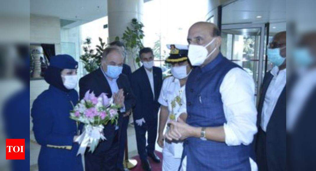 Defence minister Rajnath Singh arrives in Iran - Times of India