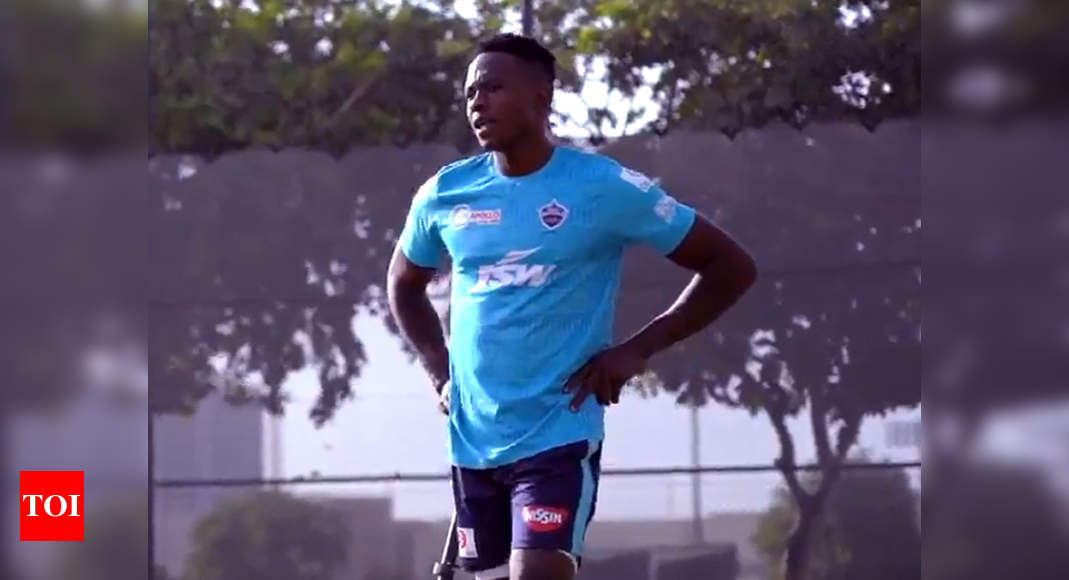 IPL 2020: Kagiso Rabada joins his first training session with Delhi Capitals | Cricket News – Times of India