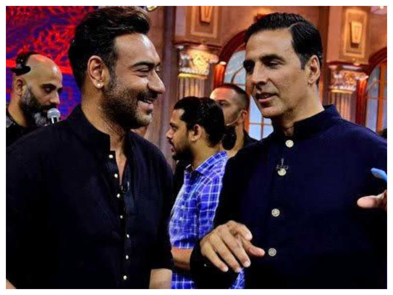 Photo: Ajay Devgn shares a sweet birthday post for Akshay Kumar who is celebrating his special day on set in Scotland