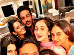 Anita Hassanandani with friends
