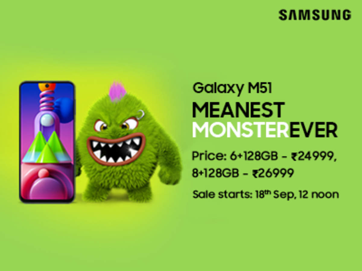 Samsung S Latest Bad Boy Meanestmonsterever The Galaxy M51 Is Here Shines Like To True Champ Check All Features Here Times Of India