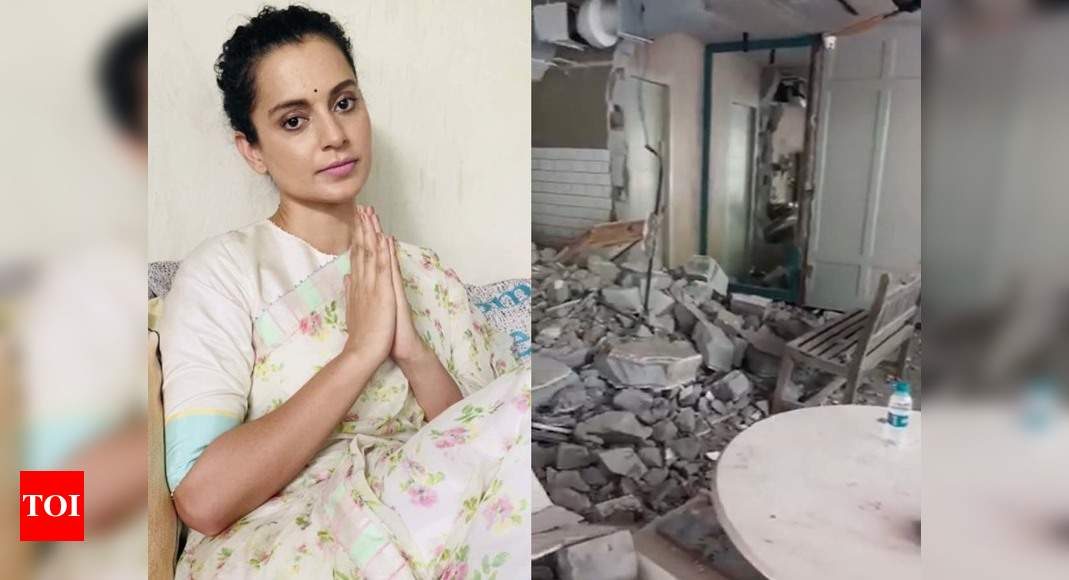 Kangana Ranaut says, 'don't have money to renovate it, will work from ravaged office' – Times of India