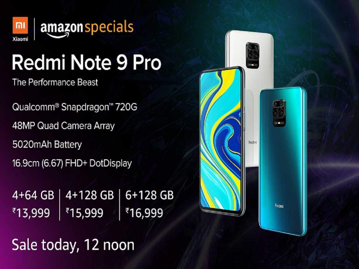 Redmi Note 9 Pro Amazon Sale Redmi Note 9 Pro Sale On Amazon Today Price Specifications Here Most Searched Products Times Of India