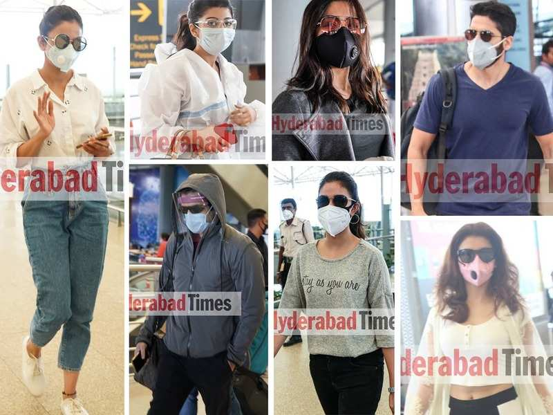 Who says masks can't be stylish? Take inspo from Tollywood stars like Keerthy Suresh, Rashmika Mandanna, and Ram Pothineni's #AirportDiaries