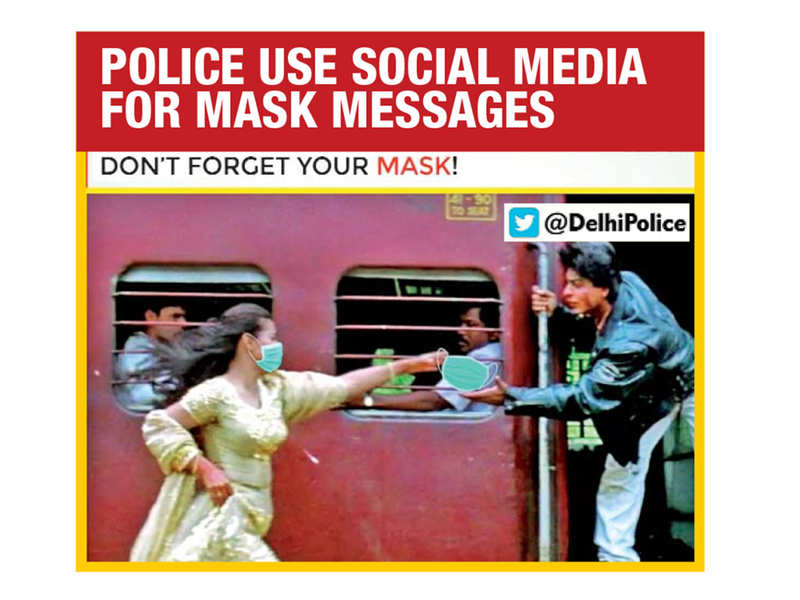 Police departments are using memes to urge people to wear masks