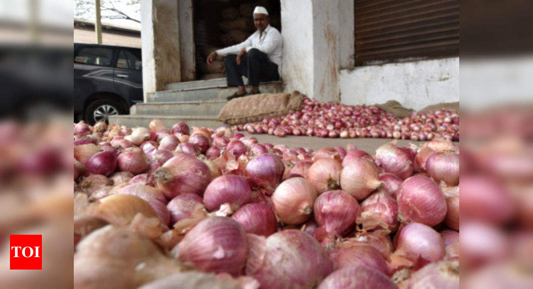 Government bans onion exports as prices treble in a month - Times of India