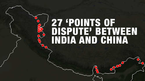 27 'points of dispute' between India and China