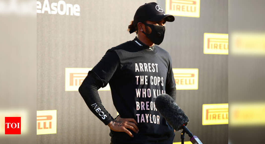 FIA investigating Hamilton for Breonna Taylor t-shirt: Report | Racing News – Times of India